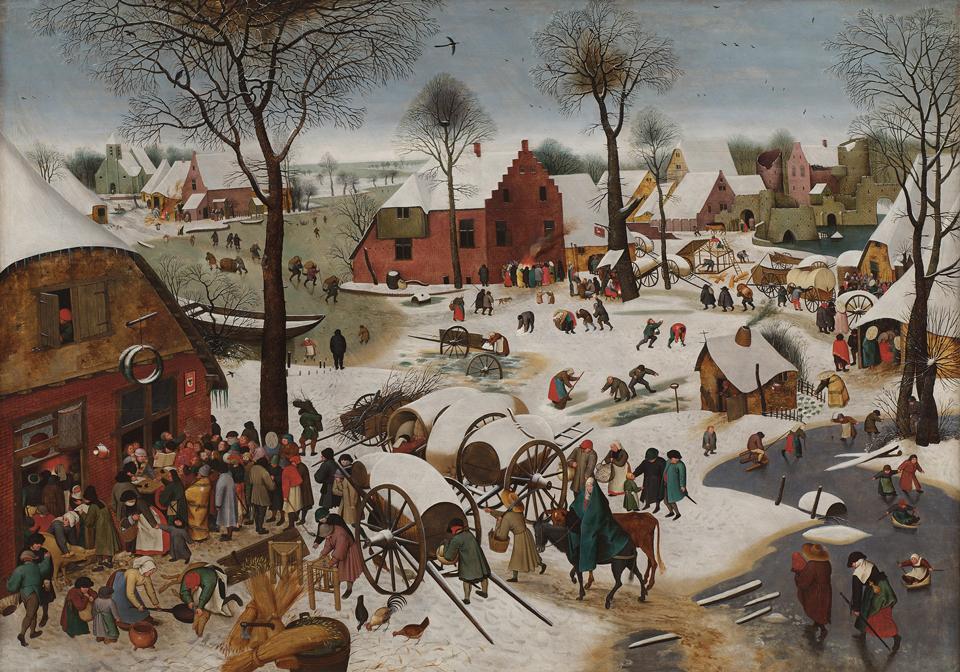 Carnets de voyage Belgique - Bruxelles - Musées Royaux - Pieter Bruegel - Le Dénombrement de Bethléem