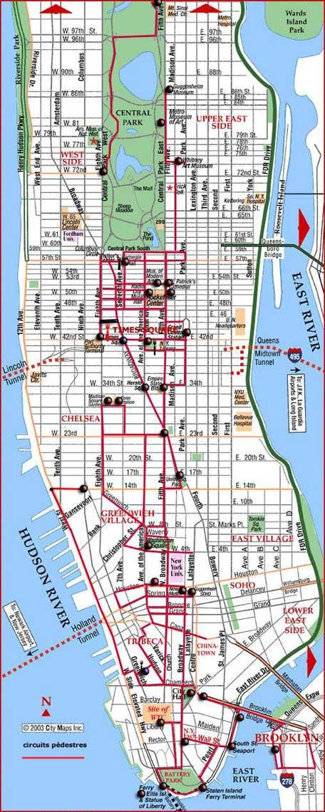 Carnets De Voyages Amerique Du Nord 5 Jours 224 New York Carte Itin 233 Raire Manhattan