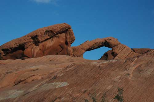 carnets de voyage usa - living in las vegas - valley of fire - arch rock