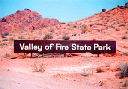 carnets de voyage usa - valley of fire - entreé du parc